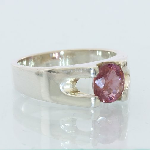 Natural Red Purple Spinel Handmade 925 Silver Unisex Ladies Gents Ring size 6.75