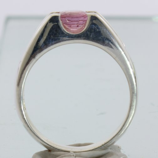Purplish Pink Spinel Handmade Sterling Silver Unisex Ladies Gents Ring size 9