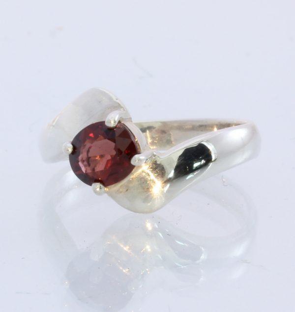 Natural Dark Sparkling Red Spinel Handmade 925 Silver Unisex Ring #1529 Size 7