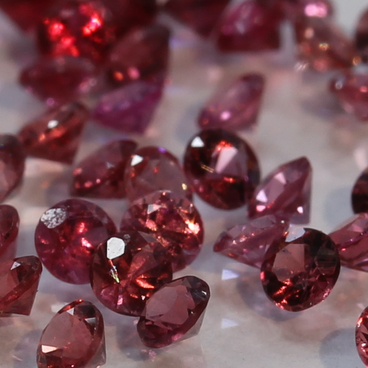 One Red Spinel Mogok Burma Faceted Rounds 2 mm Accent Gem Averages .03 carat
