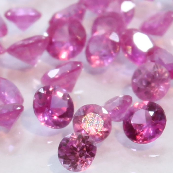 One Natural Pink Spinel Faceted 2 mm Rounds Accent Gemstone Averages .04 carat