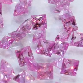One Pink Sapphire Well Faceted 2 mm Round Accent Gemstone Averages .06 carat