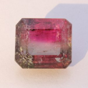 Natural Faceted Octagonal Bi-Color Tourmaline Gem Clarity 7.61 caret #1537