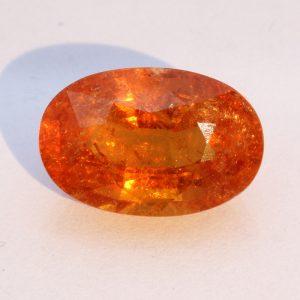 Fanta Orange Spessartine Garnet Faceted Oval Spessartite Gemstone 5.05 carat