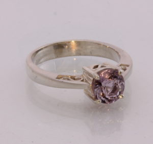 Natural Red Spinel Handmade Sterling Silver ajoure filigree Ladies Ring size 7