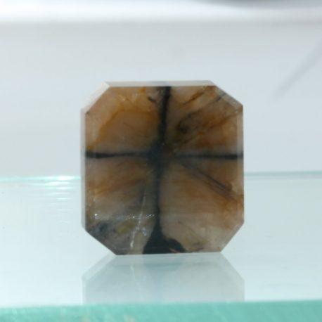 Chiastolite Cross Andalusite Octagon Shape Untreated Gemstone 18x17 mm 25.08 ct.
