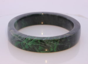 60.7 mm Burma Black Green Maw Sit Sit Stone Bangle Mawsitsit Bracelet 7.5 inch