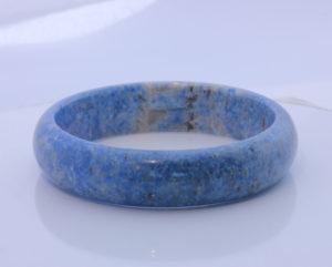60.4 mm Burma Blue Denim Lapis Lazuli Untreated Stone Bangle Bracelet 7.47 inch