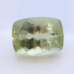 Light Yellow Green Beryl Aquamarine Faceted 20x15 Cushion Gemstone 19.80 carat