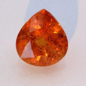 Fanta Orange Spessartine Garnet Faceted Pear Spessartite Mandarin Gem 3.33 carat