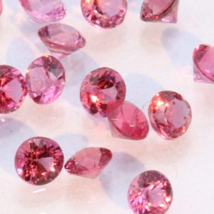 One Burmese Pink Red Spinel Faceted 1.9 mm Round Accent Gem Averages .03 carat