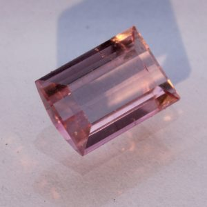 Light Pink Brazilian Tourmaline Faceted Rectangle Eye Clean Gemstone 1.42 carat