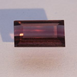 Rubellite Red Purple Tourmaline Faceted Rectangle Eye Clean Gemstone .79 carat