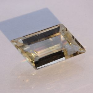 Straw Yellow Oregon Sunstone Precision Faceted Parallelogram Gemstone 3.41 carat