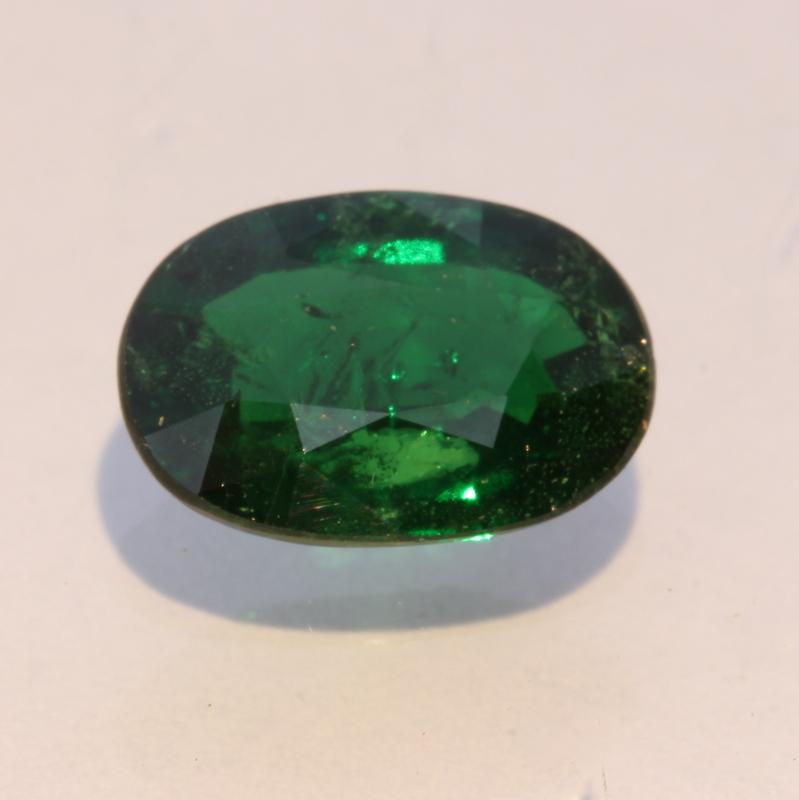 Chrome Green Tourmaline Faceted Oval Burmese Natural Unheated Gem 1.73 carat