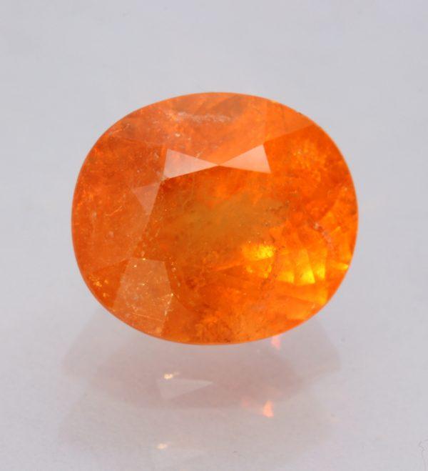 Fanta Orange Spessartine Garnet 12x10mm Oval Spessartite Mandarin Gem 8.64 carat