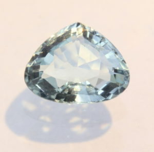 Aquamarine Light Blue Green Beryl Faceted Pear Cambodian Gemstone 1.48 carat