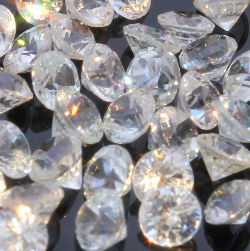 One White Zircon Natural Well Faceted 2.5 mm Round Accent Gem Averages .10 carat