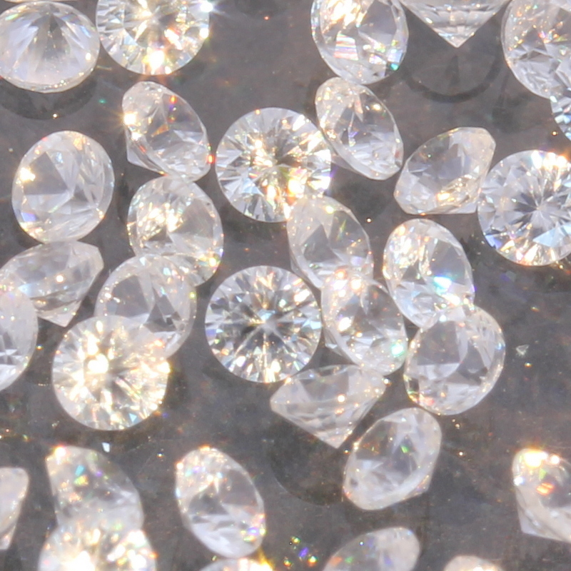 One White Zircon Natural Well Faceted 2 mm Round Accent Gem Averages .05 carat