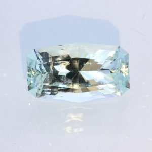 Aquamarine Light Blue Green Beryl Precision Faceted VVS Gemstone 19.01 carat