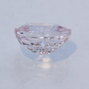 White Sapphire Faceted 7.5x6.1mm Oval Unheated Very Light Pink Gem 1.83 carat