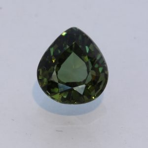 Medium Dark Green Tourmaline Faceted Pear Brazil Untreated Gemstone 1.70 carat