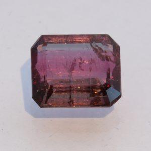 Bi-color Pink Purple Blue Green Tourmaline Faceted Square Octagon Gem 5.00 carat