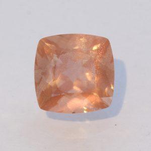Oregon Sunstone Precision Square Cushion Untreated Copper Shiller Gem 1.52 carat