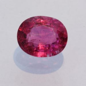 Rubellite Pink Purple Tourmaline Faceted Oval Brazil Gemstone 2.50 carat