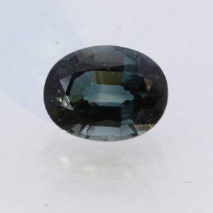 Dark Blue Green Indicolite Tourmaline Faceted Oval Brazil Gemstone 3.00 carat