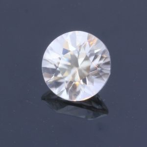 Natural Colorless White Zircon Faceted 6.7 mm Round Diamond Cut Gem 1.77 carat