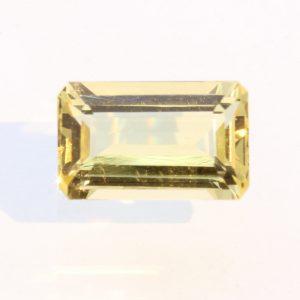 Heliodor Yellow Beryl Faceted Rectangular Octagon VVS Clean Gemstone 2.62 carat