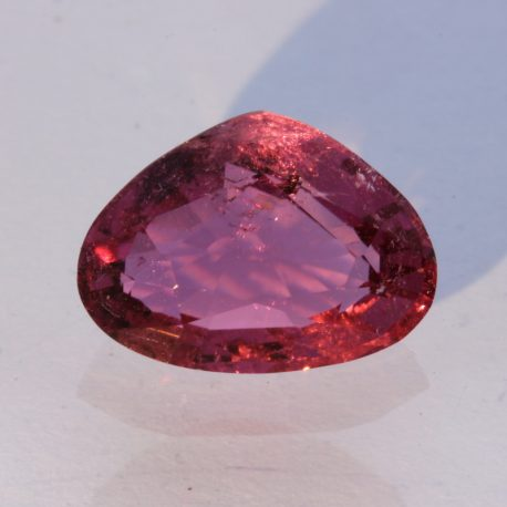 Rubellite Bright Purplish Pink Tourmaline Faceted Pear Brazilian Gem 2.15 carat