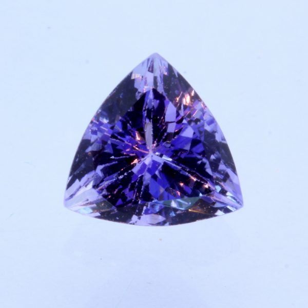 Blue Purple Tanzanite Precision Faceted Trillion Natural Gemstone 1.71 carat