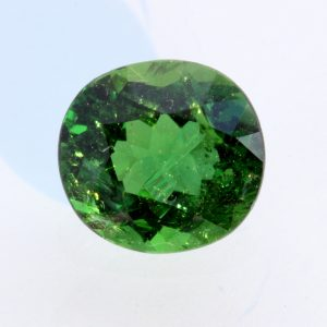 Chrome Green Tourmaline Faceted Oval Burmese Natural Unheated Gem 2.53 carat