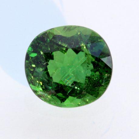 Chrome Green Tourmaline Faceted Oval Burmese Natural Unheated Gem 2.53 carat