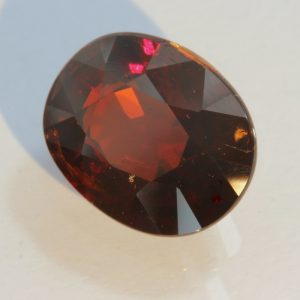 Almandine Dark Orangish Red Garnet Oval Untreated Natural Gemstone 5.51 carat