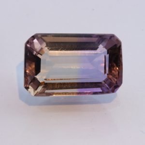 Bolivian Ametrine Yellow Purple Quartz Faceted Rectangular Octagon 6.64 carat