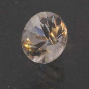 Natural Colorless White Zircon Faceted 6.1 mm Round Diamond Cut Gem 1.36 carat