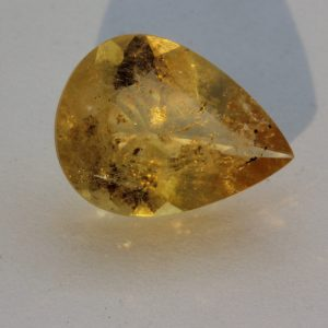 Citrine Gemstone Burmese Natural Yellow Quartz Faceted 12x9 mm Pear 2.47 carat