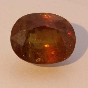 Yellow Golden Sphene Faceted Oval Untreated Titanite Gem 6.62 carat