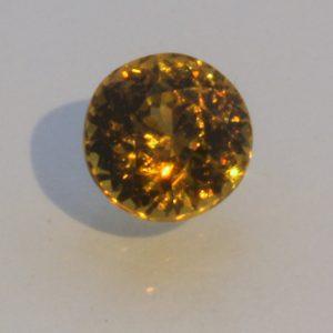 Mali Golden Yellow Grossular Garnet 6 mm Round Untreated Gemstone 1.19 carat
