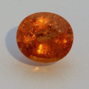 Fanta Orange Spessartine Garnet Oval Mandarin Spessartite Gemstone 2.44 carat