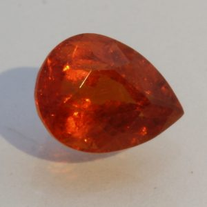 Mandarin Spessartite Garnet Pear Gem Dark Fanta Orange Spessartine 2.06 carat.