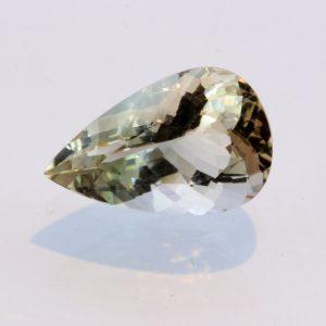 Oregon Sunstone Yellow Blue Bi-color Precision Pear Untreated Gem 3.10 carat