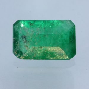Green Emerald Faceted Natural Beryl 10x6.3 Emerald Cut Gemstone 2.12 carat
