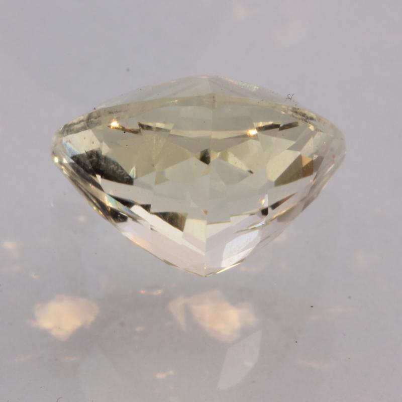 Light Yellow Orthoclase Feldspar Precision Faceted 10 mm Trillion