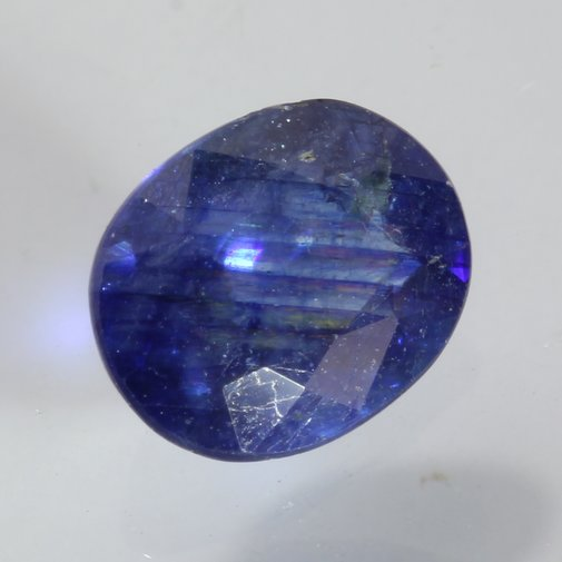 Deep Sea Blue Sapphire Heat Only Faceted 7x5.5mm Oval Ceylon Gemstone 1.18 carat