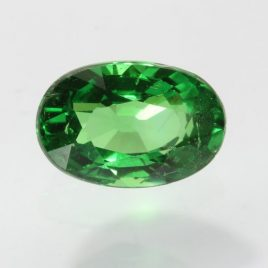 Grass Green Tsavorite Garnet Faceted Oval Bright Natural Gemstone 1.11 carat