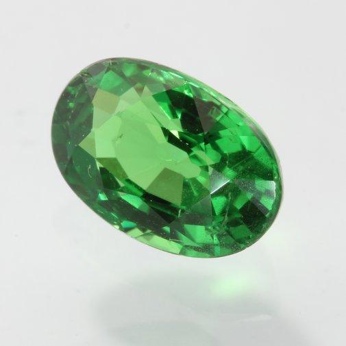 Grass Green Tsavorite Garnet Faceted Oval Bright Natural Gemstone 1.11 carat